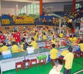 第八届湖南省青少年机器人竞赛创意表演赛现场