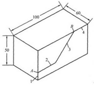 根据立体图,完成下列问题: (1)补全所缺三视图.
