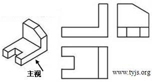 根据物体的立体图和左视图