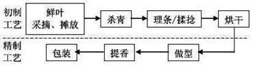 绿茶生产工艺流程图