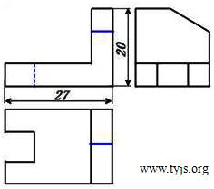 根据物体的立体图和左视图答案