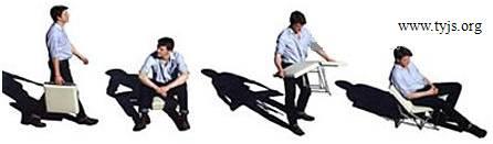 一款便携式折叠椅