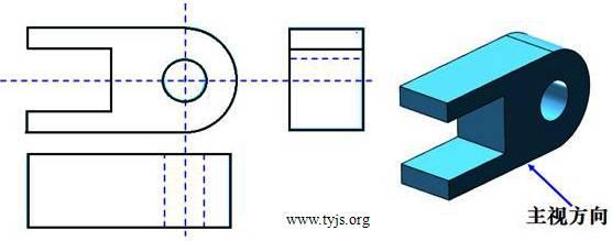 某工件的立体图和三视图