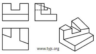 判断三视图中缺少的图线