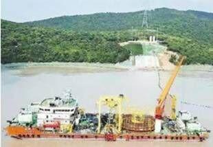 500千伏海底电缆成功登陆舟山大鹏山岛