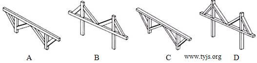 一个木桥模型