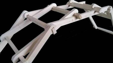 """""""木拱桥结构""""模型"""